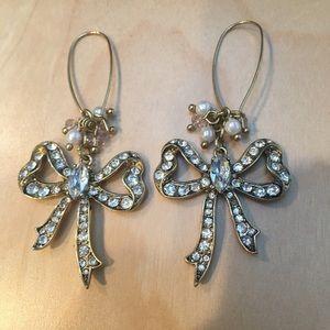 Rhinestone Betsey Johnson Earrings
